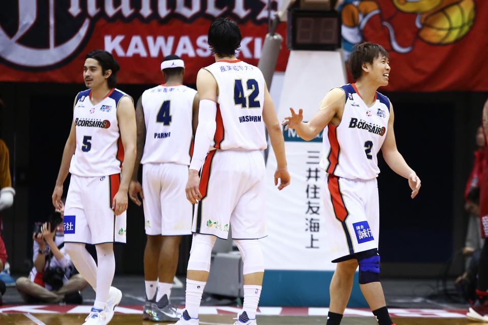 川崎ブレイブサンダース横浜ビー・コルセアーズとどろきアリーナ