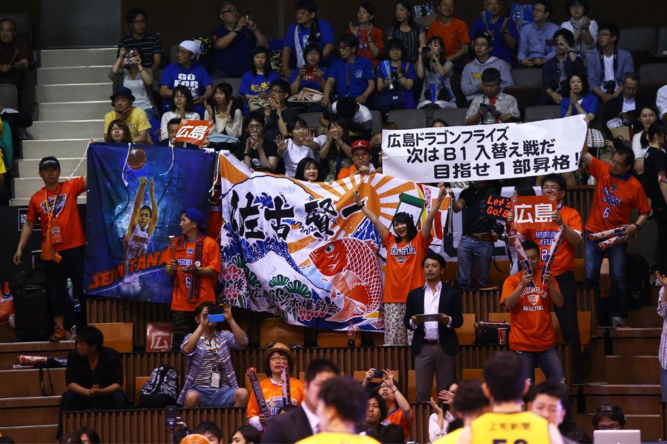 広島ドラゴンフライズ群馬クレインサンダーズ代々木第二体育館