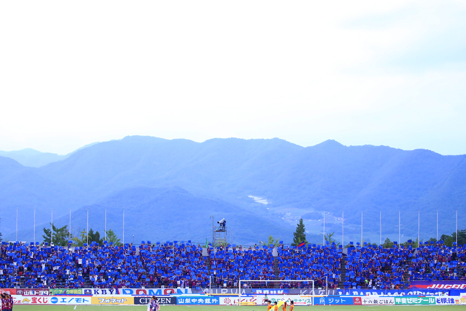 ヴァンフォーレ甲府ガンバ大阪山梨中銀スタジアム