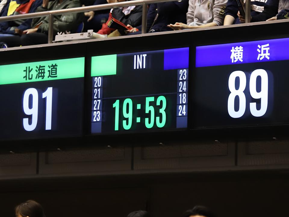 横浜ビー・コルセアーズ×レバンガ北海道@トッケイセキュリティ平塚総合体育館